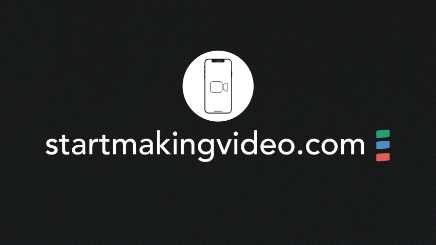 Start Making Video Logo of Smartphone on a black background with startmakingvideo.com below.